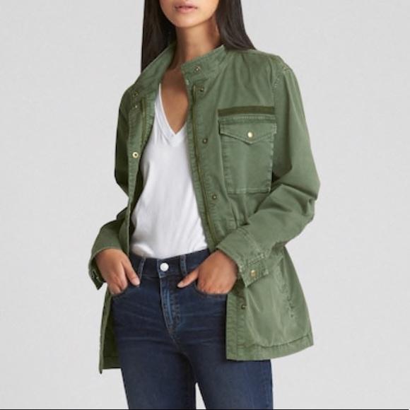 b51e1d69 GAP Women's Military Jacket Green